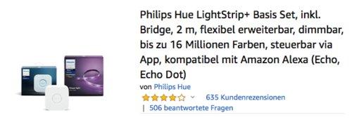 Philips Hue 2 m LightStrip+ inkl. Bridge - jetzt 11% billiger
