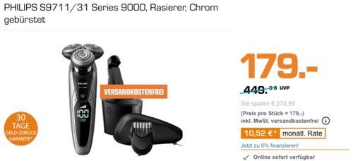 PHILIPS S9711/31 Series 9000 Rasierer - jetzt 19% billiger