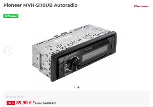 Pioneer MVH-S110UB Autoradio, 1DIN, 4x50Watt - jetzt 15% billiger