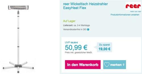 reer Wickeltischstrahler EasyHeat Flex mit Standfuß - jetzt 9% billiger