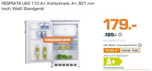 RESPEKTA UKS 110 Unterbau-Kühlschrank, A+, 821 mm - jetzt 22% billiger