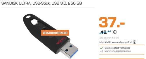 SANDISK Ultra USB-Stick 256 GB - jetzt 21% billiger