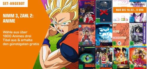 Saturn - 3 für 2 Anime Aktion bis 18.02., 9 Uhr - jetzt 23% billiger