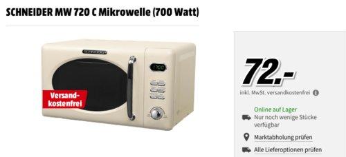 SCHNEIDER MW 720 C Mikrowelle, Creme - jetzt 20% billiger