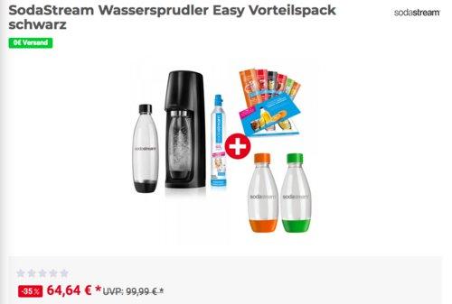 SodaStream Wassersprudler Easy Vorteilspack, schwarz - jetzt 12% billiger