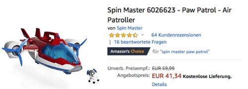 Spin Master 6026623 - Paw Patrol - Air Patroller - jetzt 18% billiger
