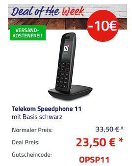 Telekom Speedphone 11 schnurloses DECT Telefon mit Basis, schwa - jetzt 30% billiger