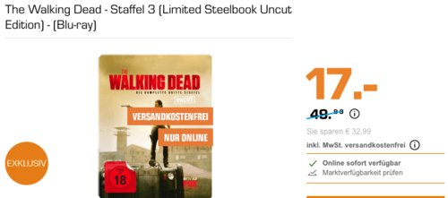 The Walking Dead - Staffel 3 (Limited Steelbook Uncut Edition) - (Blu-ray) - jetzt 13% billiger