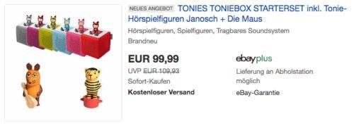 tonies Toniebox Startset inkl. Tonie-Hörspielfiguren Janosch + Die Maus - jetzt 9% billiger