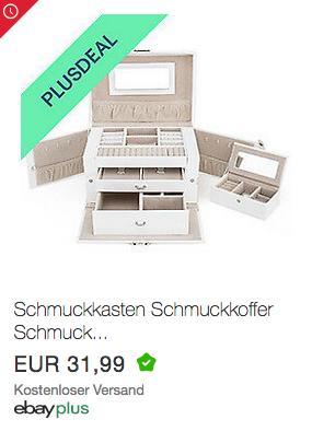 TRESKO JEWB-012 Schmuckkasten mit integriertem Schloss, weiß - jetzt 10% billiger
