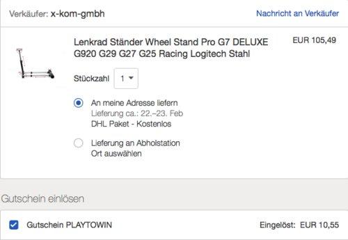 Wheel Stand Pro G7 DELUXE - Lenkrad Ständer - jetzt 10% billiger