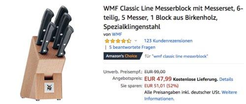 WMF Classic Line Messerblock mit Messerset, 6-teilig - jetzt 9% billiger