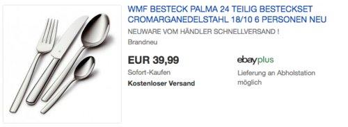 WMF Palma Cromargan Edelstahl Besteckset für 6 Personen, 24-teilig - jetzt 20% billiger