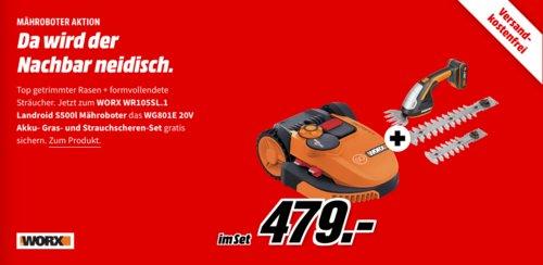 WORX WR105SI.1 Landroid S500I Mähroboter inkl.Worx 20V WG801E Gras- und Strauchschere - jetzt 16% billiger