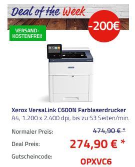 Xerox VersaLink C600N Farblaserdrucker + 75€ Cashback - jetzt 42% billiger