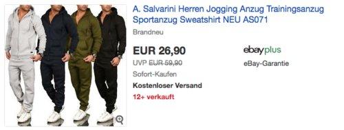 """A. Salvarini Trainingsanzug """"AS-071"""", versch. Farben und Größen - jetzt 10% billiger"""