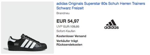 adidas Superstar 80s Herren Speaker, schwarz - jetzt 35% billiger