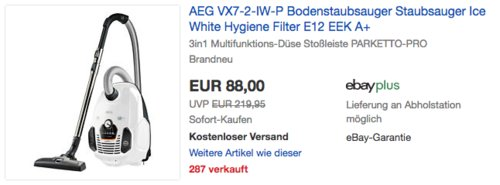 AEG VX7-2-IW-P Bodenstaubsauger, weiß - jetzt 32% billiger