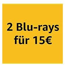 Amazon: 2 Blu-rays für 15 EUR bis 27.4.2019 - jetzt 25% billiger