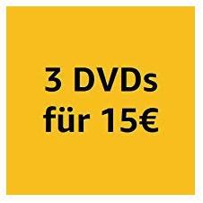 Amazon: 3 DVDs für 15 EUR, bis 27.4.2019 - jetzt 34% billiger