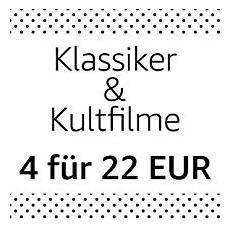 Amazon Aktion: 4 Filmklassiker (DVD & Blu-ray) für 22 EUR - jetzt 54% billiger