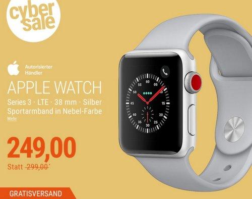 Apple Watch Series 3 LTE 38mm mit Sportarmband, Nebel - jetzt 17% billiger
