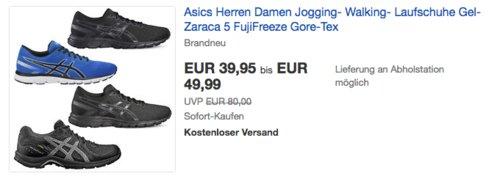 ASICS  Gel-Zaraca 5 Unisex-Erwachsene Laufschuhe - jetzt 33% billiger