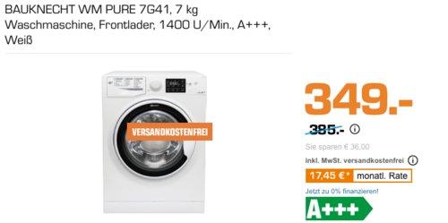 BAUKNECHT WM PURE 7G41 Waschmaschine, 7 kg, A+++ - jetzt 5% billiger
