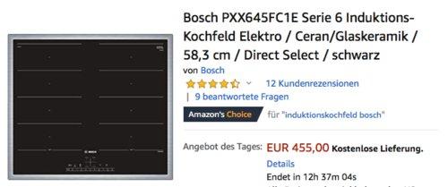Bosch PXX645FC1E Serie 6 Induktions-Kochfeld, 58,3 cm - jetzt 9% billiger