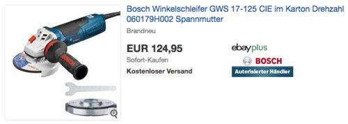 Bosch Winkelschleifer GWS 17-125 CIE im Karton - jetzt 8% billiger