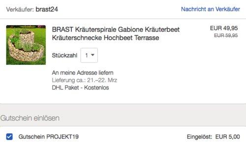 """BRAST Kräuterspirale """"Gabione"""", 52,5x42,5cm - jetzt 25% billiger"""