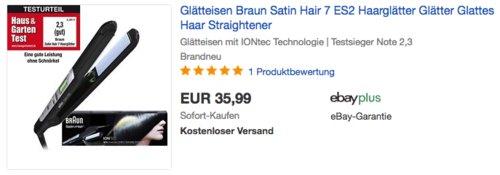 Braun Satin Hair 7 ES2 Haarglätter - jetzt 14% billiger