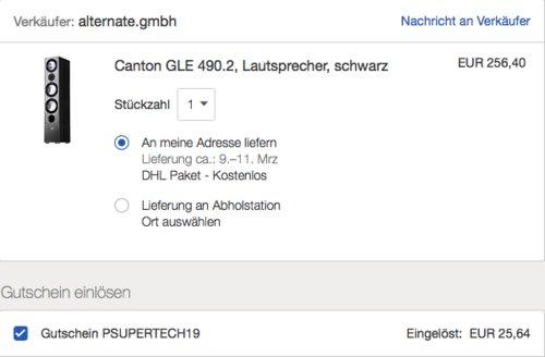Canton GLE 490.2 Standlautsprecher, 320 W, schwarz - jetzt 10% billiger
