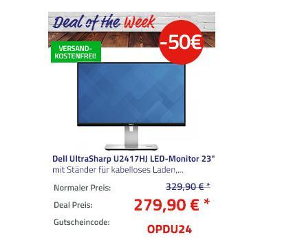 """Dell UltraSharp U2417HJ LED-Monitor (23,8"""") 60,4cm mit Ständer für kabelloses Laden - jetzt 15% billiger"""