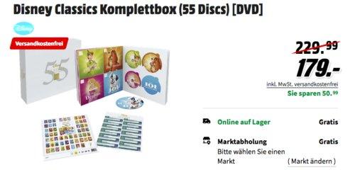 Disney Classics Komplettbox (55 Discs) [DVD] - jetzt 13% billiger