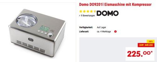 Domo DO9201I Speiseeisbereiter/Eismaschine, 2 Liter - jetzt 13% billiger