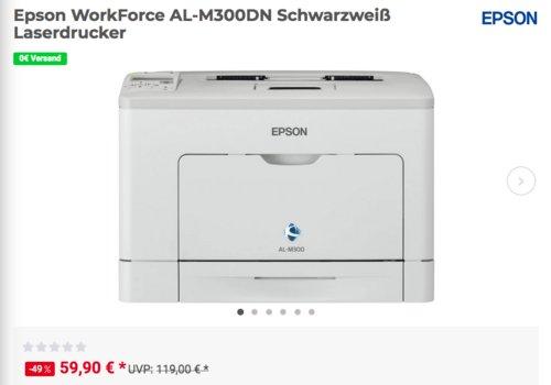 Epson WorkForce AL-M300DN Schwarzweiß Laserdrucker - jetzt 26% billiger