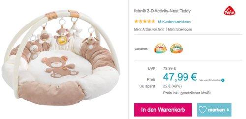 fehn® 3-D Activity-Nest Teddy, Spielbogen für Babys - jetzt 11% billiger