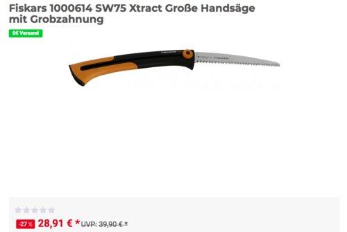 Fiskars SW75 Xtract Handsäge mit Grobzahnung, 25,5 cm - jetzt 10% billiger