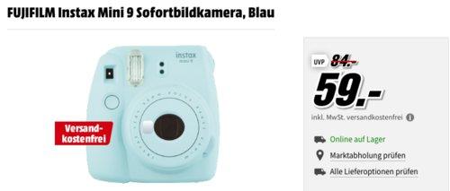 FUJIFILM Instax Mini 9 Sofortbildkamera, blau - jetzt 9% billiger