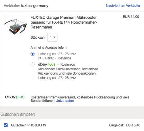 FUXTEC Premium Mährobotergarage passend für FX-RB144 - jetzt 10% billiger
