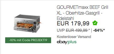 GOURMETmaxx Beef Maker XL Oberhitze-Gasgrill aus Edelstahl, bis ca. 800 °C - jetzt 13% billiger