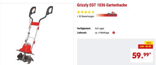 Grizzly EGT 1036 Elektro-Gartenhacke - jetzt 14% billiger