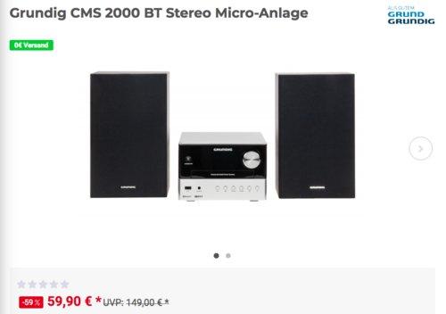 Grundig CMS 2000 BT Stereo Micro-Anlage, 30 Watt - jetzt 17% billiger