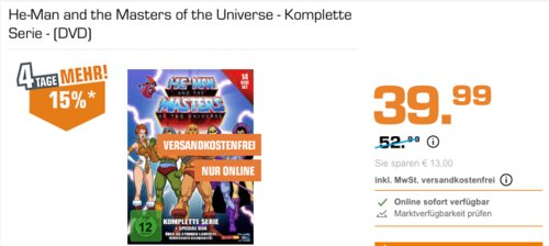 He-Man and the Masters of the Universe - Komplette Serie - (DVD) - jetzt 25% billiger