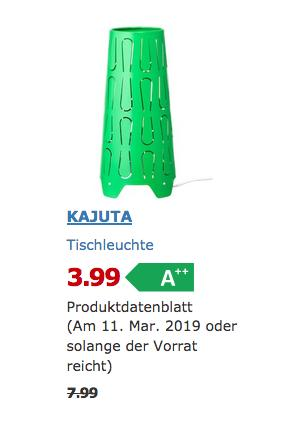 IKEA Augsburg - KAJUTA Tischleuchte, grün - jetzt 50% billiger