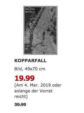 IKEA Augsburg - KOPPARFALL Bild, New York City - jetzt 50% billiger