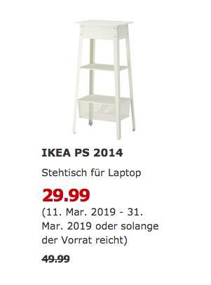 IKEA Berlin-Lichtenberg - PS 2014 Stehtisch für Laptop, weiß - jetzt 40% billiger