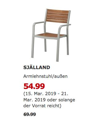 IKEA Berlin-Spandau - SJÄLLAND Armlehnstuhl/außen, hellgrau - jetzt 21% billiger