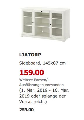 IKEA Berlin-Tempelhof - LIATORP Sideboard, weiß - jetzt 39% billiger